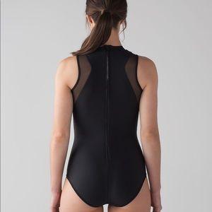 lululemon athletica Swim - Lululemon Flow Rider One Piece size 4 black mesh